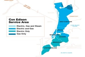 Consolidated Edison Service Area Map