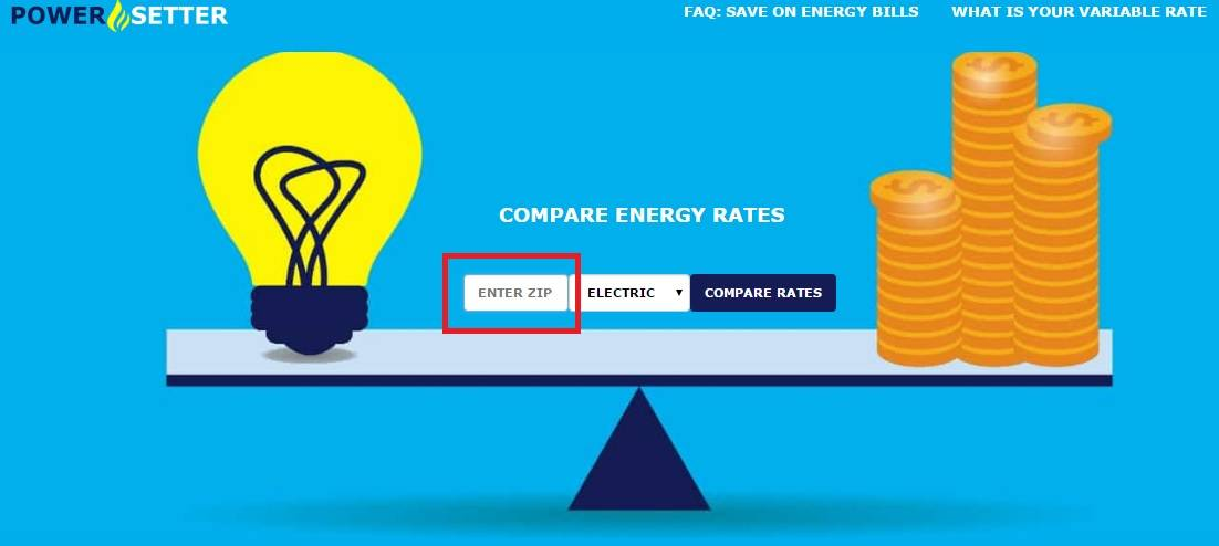 Enter Zip Code to Compare Energy Rates